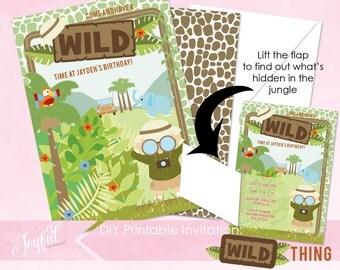 Safari Birthday Party Printable Invitation