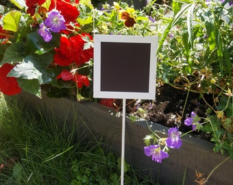 5 x Double Sided Square Chalkboard Squares for Table Numbers at weddings