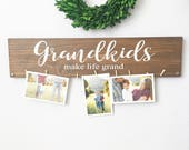 Grandkids make life grand sign - Grandkids sign - Grandparents gift  - Mothers day gift - Grandparents sign