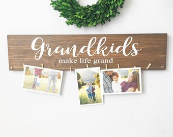 Grandparent gifts etsy grandkids make life grand sign grandkids sign grandparents gift valentines day gift negle Choice Image
