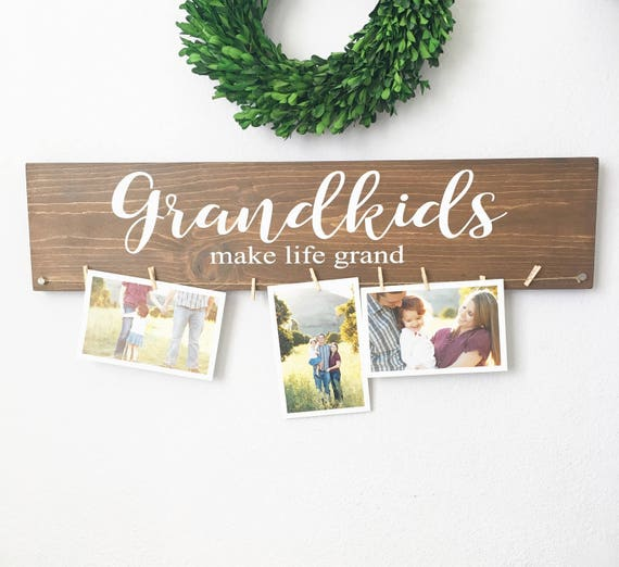 Grandkids make life grand sign - Grandkids sign - Christmas Gift ...