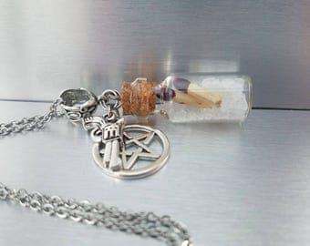 Supernatural necklace - salt and burn - supernatural jewelry - supernatural salt  - salt vial necklace - ghost hunting - supernatural gifts