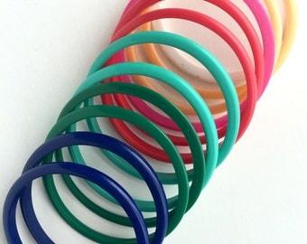 Rainbow Bangle Bracelets-Set of 12