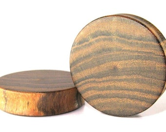 Bocote Wood Organic Wooden Ear Plugs/Gauges Sizes 4mm-40mm