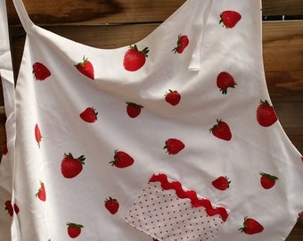 Woman's Apron, lined, kitchen apron, craft apron,