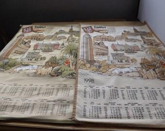 Two Cloth Frankfurt Germany Scroll Calendars