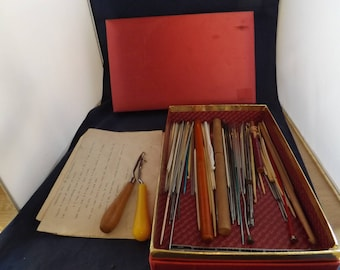Lot of Vintage Crochet and Knitting Needles