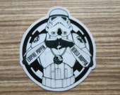 Imperial Stormtrooper Circle Clear Sticker, 100% Waterproof Vinyl Clear Sticker, Pop Culture Clear Sticker