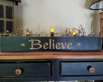 Handmade country decor,  timer candles,  berry decor