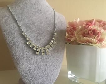 Silver Statement Crystal Necklace