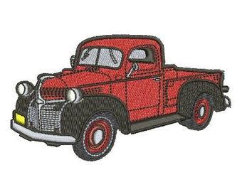 Dodge truck embroidery design
