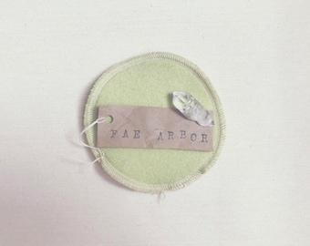 Wool-Backed Nursing Pads // 'Chartreuse' Cashmere Wool, Hemp & Cotton Re-Usable Nursing Pads