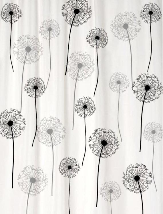 dandelion floral shower curtain you pick colors standard or. Black Bedroom Furniture Sets. Home Design Ideas