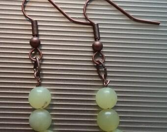 Yellow Beaded Earrings 47