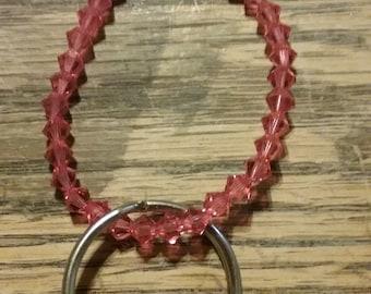 Pink Beaded Key Chain 1