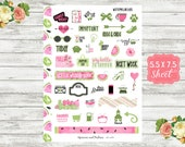Watermelon Days - Deco Planner Stickers - Deco Stickers - Decorative Stickers - Erin Condren, Happy Planner and Personal Planners