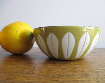 Vintage Small Cathrineholm Green Bowl