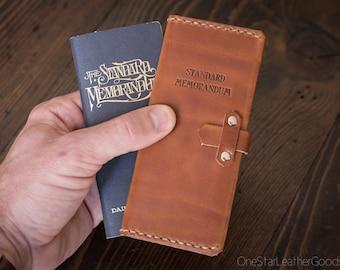 "Leather cover for ""The Standard Memorandum"" daily record book / calendar"