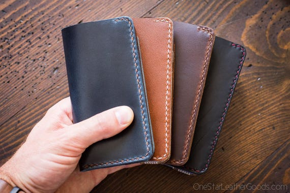 "BUILD-YOUR-OWN - iPhone 6 & 7 (4.7"") cell phone wallet case in Horween leather"