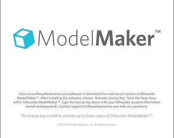 New!! Model Maker 3D software for Silhouette  50.00 value FREE SHIP