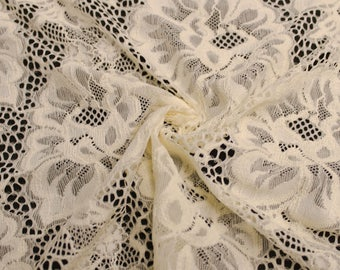 """Tan 59"""" Natalie Lace Fabric by the Yard - Style 583"""
