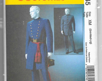 M4745 McCall's Civil War Yankee and Union Soldier Costume Sewing Pattern Sizes 34-44 or 46-56