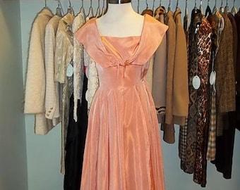 50s Peach Party Dress