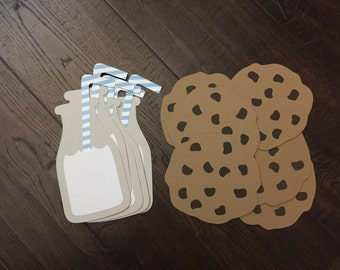 Milk and Cookie Cutouts-12ct