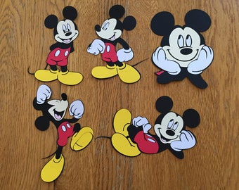 5 Assorted Mickey Mouse Cricut Die Cuts