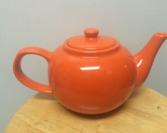 Orange tea pot