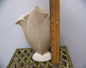 fluer de lis shaped vase