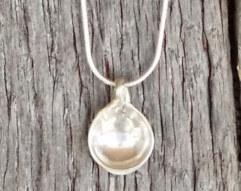 Beautiful Sterling Silver Salt Spoon Necklace Charm