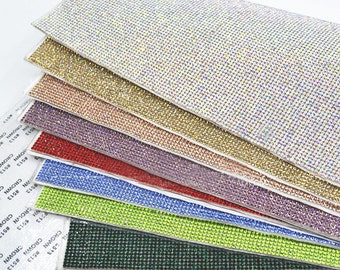 Glass Rhinestones Sheet Self Adhesive Applique  / Sticker Sheet 2mm ( SS8 ) /  15 colors to choose from