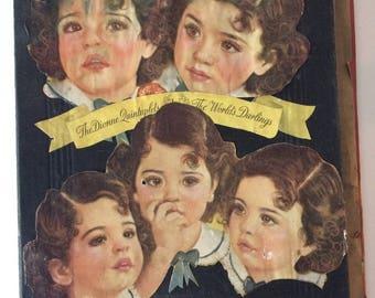 1930s Scrapbook Dionne Quintuplets, Americana Vintage Advertising, Magazine Clip Art ephemera, Dionne Quins, Vintage scrapbooks