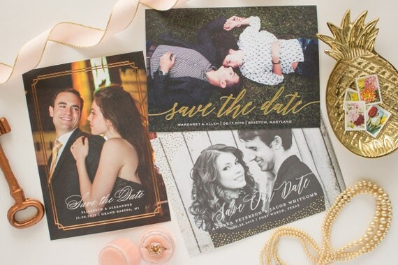 Save the Date Sample Pack - photo card, non photo wedding save the date