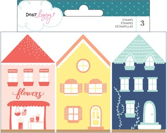 Dear Lizzy - Lovely Day Collection - House Stamps - 3 pieces - 376965