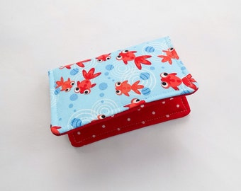 Credit Card Case, Mini Wallet, Business Card Case Goldfish