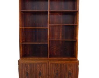 Kai Winding Rosewood Bookcase Mid Century Danish Modern