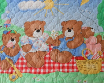 Summer Day Outing.  Baby quilt immediately available for sale.