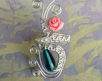 Original Design, Size 9, silver-plated adjustable ring.