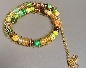 Bead and wirework bracelet/choker