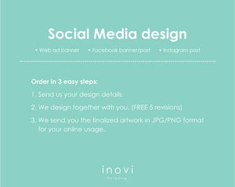 Design for Web banner, FB banner/post, Instagram post, Graphic Design service