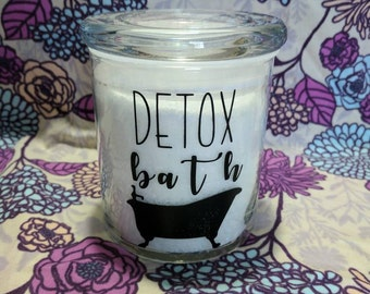 12 once Detox Bath Jar with epsom salts and Thieves Essential Oil