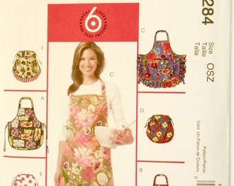 Apron 6 Looks 3 Full 3 Half All In One Pattern from McCalls M5284 One Sizes   FREE US SHIPPING