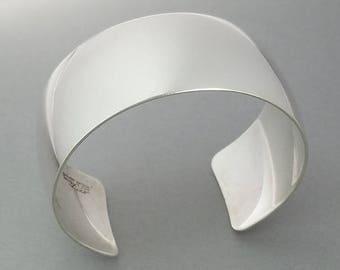 Vintage N.E. FROM Denmark 925 Sterling Silver Modernist Cuff Bracelet