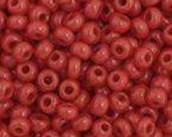 Dark Red Opaque Czech Seed Bead