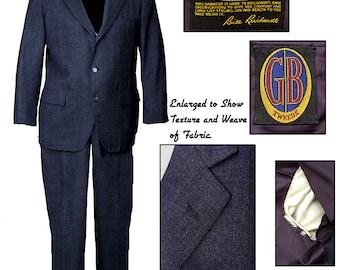Vintage 50s 3 Button Suit / Vintage Mens Suit / Mad Men Suit / Rockabilly Suit / Jazz Suit /