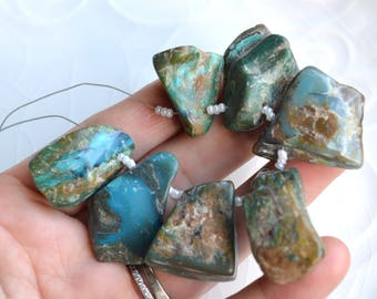 Peruvian Blue Opal Beads, 1