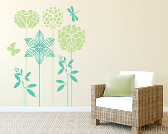 Decorative Flowers Wall Decals Graphic Vinyl Sticker Bedroom Living Room Wall Home Decor