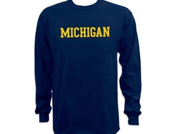 Michigan Wolverines Basic Block Long Sleeve T-Shirt